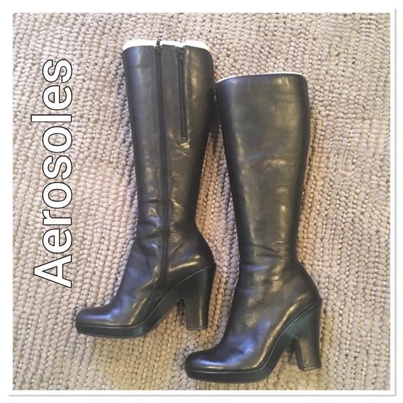 9c8c40a85573d Aerosoles Gorgeous Black Knee High Boots